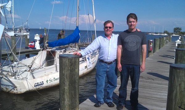 Matt with his father