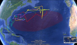 ORP Atlantic Gyre Expedition Map