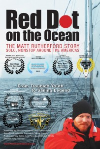 Red Dot on the Ocean: The Matt Rutherford Story movie poster with film festival awards
